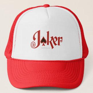 El logotipo del naipe del comodín gorra de camionero