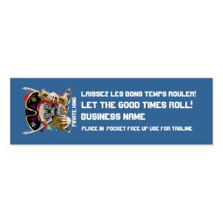 El logotipo dual del carnaval del carnaval ve por tarjetas de visita mini