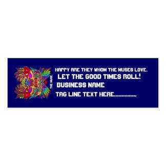 El logotipo dual del carnaval ve por favor notas tarjetas de visita mini