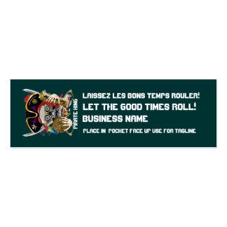 El logotipo dual del carnaval ve por favor notas tarjetas de visita