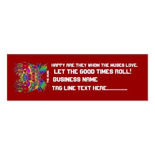 El logotipo dual del carnaval ve por favor notas plantilla de tarjeta personal