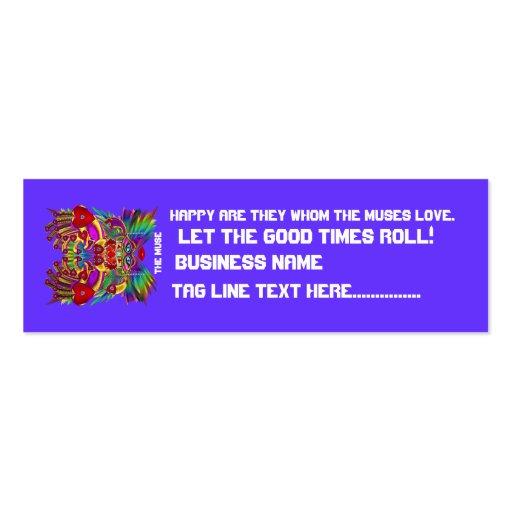El logotipo dual del carnaval ve por favor notas tarjetas personales