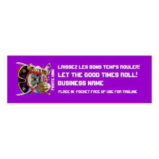 El logotipo dual del carnaval ve por favor notas tarjeta de visita