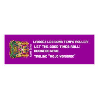 El logotipo dual del carnaval ve por favor notas plantillas de tarjetas personales