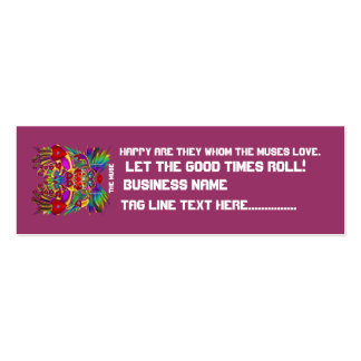 El logotipo dual del carnaval ve por favor notas plantilla de tarjeta de negocio