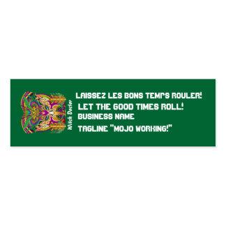 El logotipo dual del carnaval ve por favor notas plantilla de tarjeta de visita