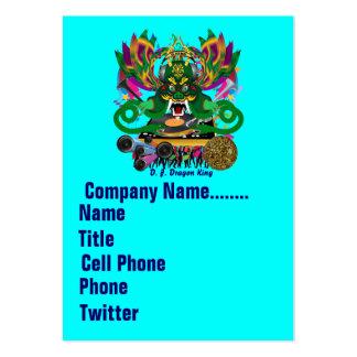 El logotipo dual del carnaval ve por favor notas tarjetas de visita grandes