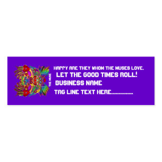 El logotipo dual del tema del fiesta ve por favor tarjetas de visita mini