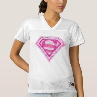 El logotipo echado a un lado 2 el | de Supergirl Camiseta De Fútbol Americano Para Mujer