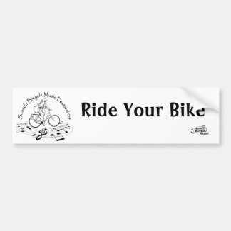 el logotipo, logotipo del abr, monta su bici pegatina para coche