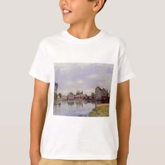 El Loing que fluye debajo del puente de Moret de Camisetas