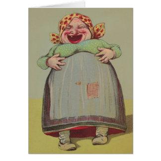 El lol de risa de señora Laugh carda risa feliz de Tarjeta