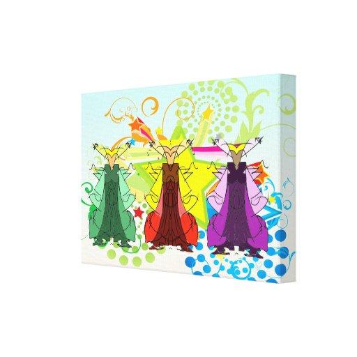 El Los Tres Reyes Magos/tres hombres sabios envolv Lienzo Envuelto Para Galerías