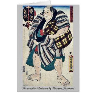 El luchador Arakuma por Utagawa, Toyokuni Tarjetas