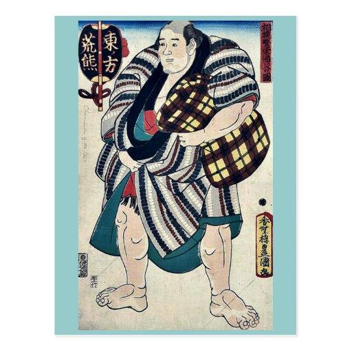 El luchador Arakuma por Utagawa, Toyokuni Tarjeta Postal