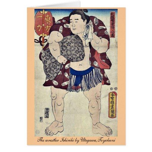 El luchador Ichiriki por Utagawa, Toyokuni Felicitación