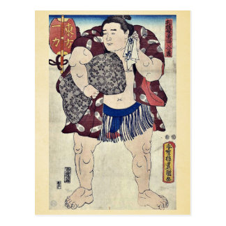 El luchador Ichiriki por Utagawa, Toyokuni Tarjeta Postal