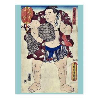 El luchador Ichiriki por Utagawa, Toyokuni Tarjetas Postales