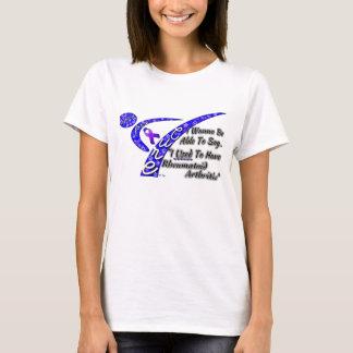 El luchar para una camiseta de la artritis