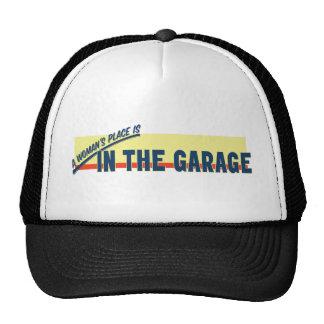 El lugar de una mujer está en el garaje gorras de camionero