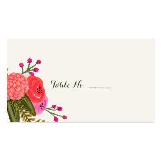El lugar del boda del espacio en blanco del jardín tarjetas de visita