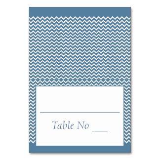 El lugar entoldado del doblez de DIY carda el azul Tarjeta