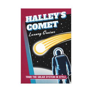 El lujo del cometa de Halleys cruza ciencia Impresión En Lienzo