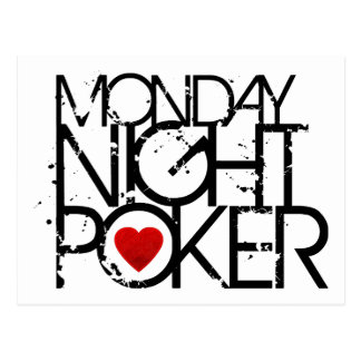 El lunes por la noche póker tarjeta postal