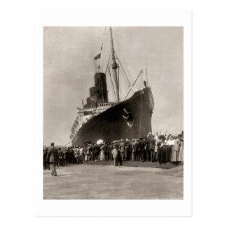 El Lusitania del RMS llega New York City 1907 Postales