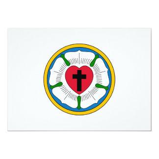 El Lutheranism Martin Luther del rosa de Luther Invitación 12,7 X 17,8 Cm