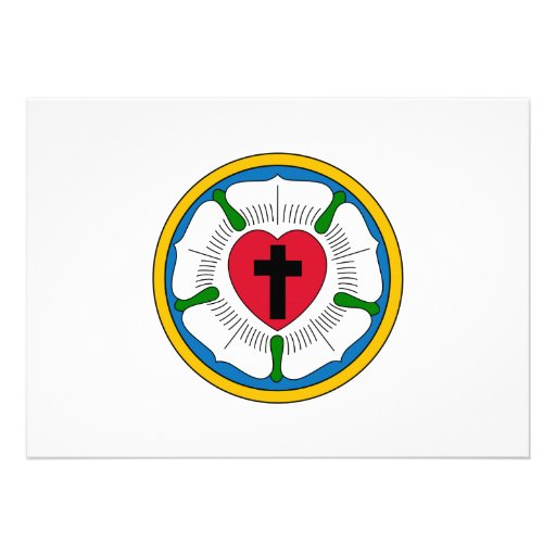 El Lutheranism Martin Luther del rosa de Luther Invitacion Personalizada