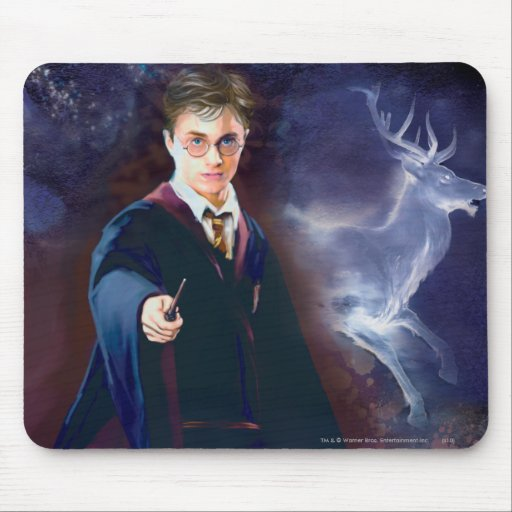 El macho Patronus de Harry Potter Tapete De Ratón