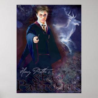El macho Patronus de Harry Potter Póster