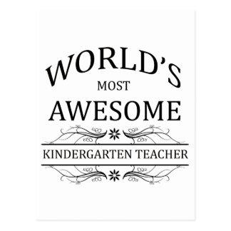 El maestro de jardín de infancia más impresionante postal