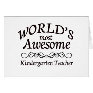 El maestro de jardín de infancia más impresionante tarjetón