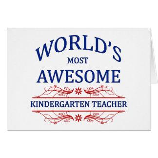 El maestro de jardín de infancia más impresionante felicitacion