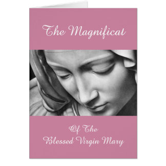 El Magnificat del Virgen María bendecido Tarjeta De Felicitación