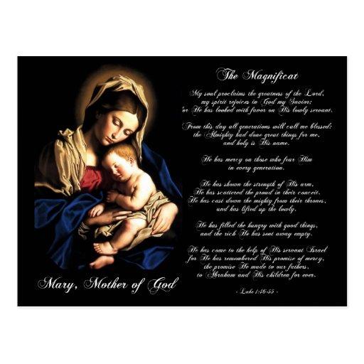 El Magnificat - Madonna y postal del personalizado
