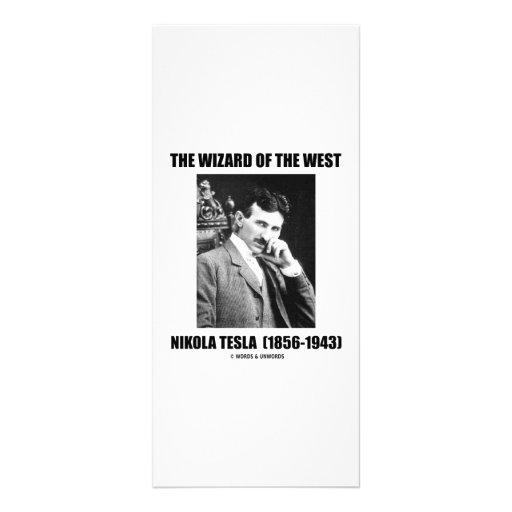 El mago del del oeste (Nikola Tesla) Diseño De Tarjeta Publicitaria