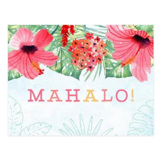 el mahalo le agradece cardar, tarjeta del mahalo