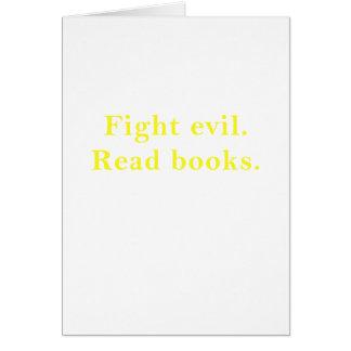 El mal de la lucha leyó los libros tarjeta