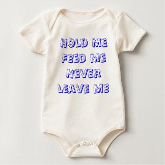 el mameluco del bebé me detiene me alimenta nunca bodys