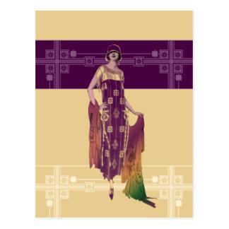 El mantón de Charlotte: los años 20 forman en oro Postal