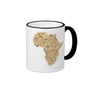 El mapa de África hizo de cereales Taza