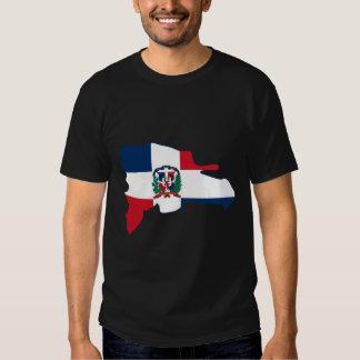 El mapa de la bandera de la República Dominicana Camiseta