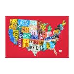 El mapa de la placa de los E.E.U.U. envolvió la lo Lona Envuelta Para Galerias