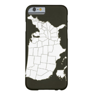 El mapa de los E.E.U.U. en blanco y negro Funda Para iPhone 6 Barely There