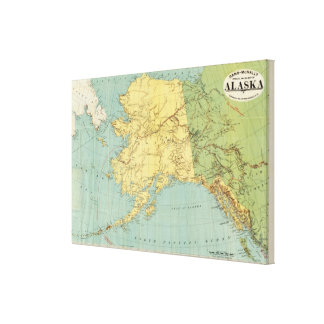 El mapa de McNally del rand de Alaska Impresión En Lienzo