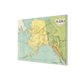 El mapa de McNally del rand de Alaska Lienzo Envuelto Para Galerias