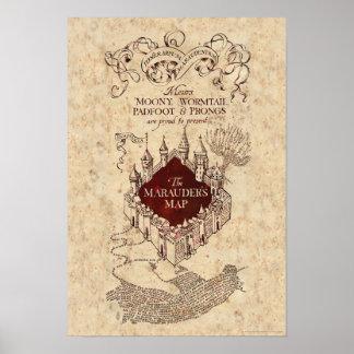 El mapa del merodeador del encanto el   de Harry Póster